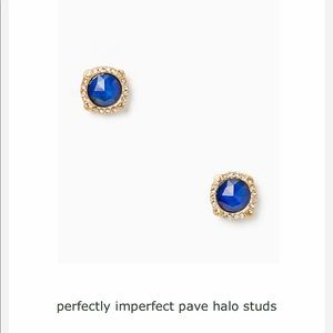 Kate spade ♠️ perfectly imperfect pave halo studs